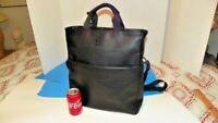 Estate Embossed Large Moleskine Tote Bag - Black Women's Business Bag NEW-NICE!
