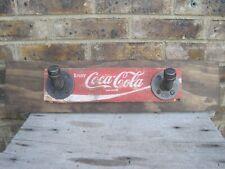 Coca Cola Crate Wall Mounted Industrial Pipe & Wood Fixture 2 Hooks Coat Rack