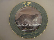 Cougar collector plate American Monarch Charles Frace Big Cats Mountain Lion