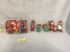Lot Of 7 Alvin and the CHIPMUNKS + CHIPETTES  Talking McDonalds toy