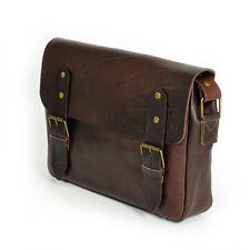Aktentasche Schultasche Lehrertasche Umhängetasche Leder-Tasche Vintage 13 NEU!