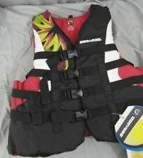 New Sea-Doo Ladies Nylon Motion PFD Life Vest Jacket-Adult Med-Pink 2858790636
