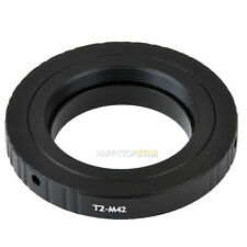 T2 0.75mm thread pitch to M42 1mm T2-M42 mm Step Coupling Ring Adapter For Lens