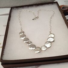 "Silpada ""Still Shining"" Necklace .925 Sterling Silver ISRAEL 18""  N1984"
