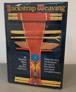 BACKSTRAP WEAVING Barbara Taber Marilyn Anderson Crafting Loom VINTAGE HBDJ