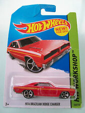 Hot Wheels 2014 HW Workshop - 1974 BRAZILIAN DODGE CHARGER (Red) #240/250 - NIP