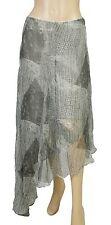 124693 NEW Free People Printed High Low Asymmetrical Skirt Medium M
