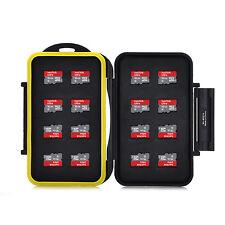 16 x MicroSD HC résistant à l'eau sceau de haute qualité de stockage de masse memory card case