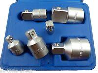 "6pc Socket Convertor Adaptor Adapter Reducer Set 1/4 3/8 1/2 3/4"" Up & Down"