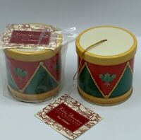 Hallmark ornament Tree Trimmer Holiday Decorations Tin Drums NOS Christmas lot