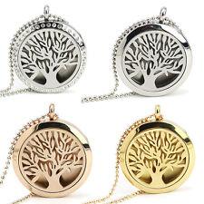 Tree Life Diffuser Locket Pendant Aromatherapy Perfume Necklace Gift #Fancychu25