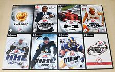 8 pc giochi collezione FIFA NBA Live NHL Tiger Woods calcio manager (pz 13 14)