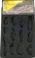 Woodland Scenics C1246 Rock Mold - Creek Bank, Flexible, Reusable - NIB