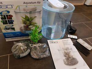 Marina 360 Aquarium Kit Bundle Combined Filter and Multi Coloured LED Module