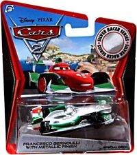 Cars 2 Silver Racer Series Francesco Bernoulli with Metallic Finish Diecast Car