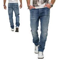 Jack & Jones Herren Slim Fit Jeans Denim Herrenhose Used Look Casual NEU
