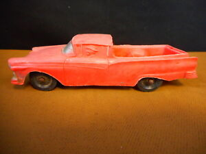 """Ford Ranchero 1957 ? VINTAGE PLASTIC 1950'S 60's MOLD Pink faded red 4.5"""""""