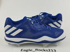 Adidas Men's PowerAlley 4 Baseball Cleats Royal Blue White Size 9.5 Q16487