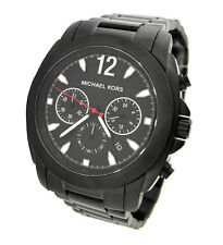 NEW MICHAEL KORS CHRONOGRAPH GUN METAL BRACELET  MENS WATCH MK8282