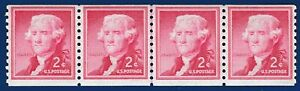 Scott Stamp # 1055a  THOMAS JEFFERSON,  Line Pair plus 2 Additional Stamps  MNH