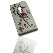 Design 1 Handy Flip Style Tasche Cover Case Hülle Etui für Sony Xperia Ion