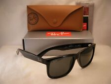 75770695be6 Ray Ban JUSTIN (RB4165-601 71 55) Black with Green Lens