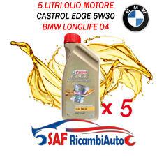 5 LITRI OLIO MOTORE CASTROL EDGE 5W30 VW PROFESSIONAL LL04 BMW LONG LIFE 4
