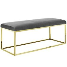 Modway Anticipate Fabric Bench - Gold Gray