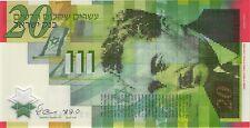 """Israel 20 Neue Schekel 2008 """"60 Jahre"""" Pick 63 (1) Polymer"""