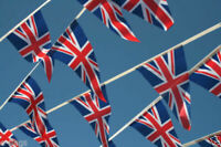 VE DAY 8th May 2020 - 33ft Long Union Jack Team GB UK Triangle Flags Bunting