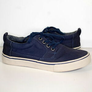 Mens Toms Valdez Navy Blue Cotton Twill Canvas Sneakers 7 M