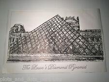 """The Louvre's Diamond Pyramid (Paris, France): Plots & Dots Pen Portrait 18 x 24"""""""