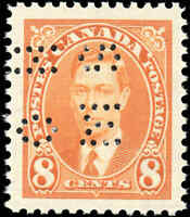 1937 Mint NH Canada VF Scott #O236 8c Perforated KGVI Issue Stamp