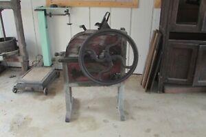Antique Wooden Hand Crank Corn Sheller-Corn Shucker #2946