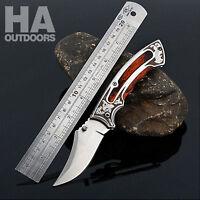 AU Pocket Folding Knife Hunting Camping Survival Outdoor Pocket Tactical Gift