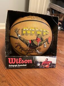 Wilson Michael Jordan Autograph MVP Gold Basketball Vintage
