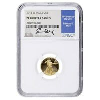 2015 W 1/10 oz $5 Proof Gold American Eagle NGC PF 70 UCAM (Edmund Moy Sign