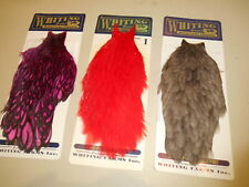 3 Whiting American hackle hen capes. 3 colors. fly tying feathers.