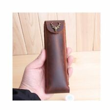 XIDUOBAO~Brown Leather Pen/Pencil Mark Case Holder Pouch