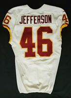 #46 Willie Jefferson of Washington Redskins NFL Locker Room Player Worn Jersey