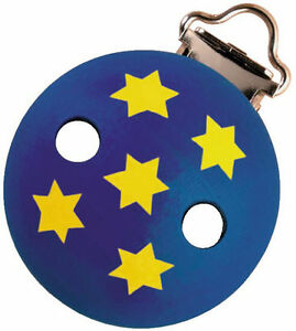 Haba 1234 Wooden Clips Tralala Blue With Stars New