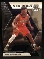 2019-2020 Panini Mosaic...Zion Williamson NBA Debut... Pelicans #269