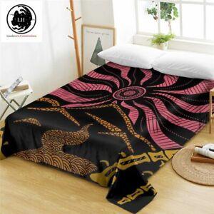 Lionhearts Bed Sheet Dark Red Flat Sheet Floral Sun Bedspreads 2021