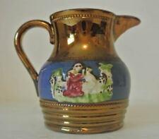 RELIEF 19th Century Copper Lustre Creamer Jug CHARLES ALLERTON & SONS Lusterware