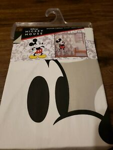 Disney Mickey Mouse 72 X 72 100% Cotton Shower Curtain White/Grey Heads