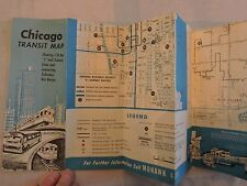 Rare 1963 Trolley Subway Bus Chicago CTA Surface Lines Brochure Timetable
