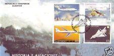 2594++CONCORDE SERIE ALBANIE  OBLITERE 1°JOUR