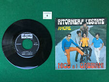 Disco Vinile 45 Giri 7'' Ariston NICO E I GABBIANI - RITORNERA' L'ESTATE / AMORE