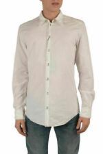 "Dolce & Gabbana ""Gold"" Men's White Dress Shirts US 15 16"