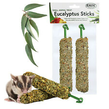 Eucalyptus Sticks (2 Pack) - Healthy Native Crunchy Chew Treat - Sugar Gliders